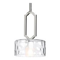 Caress 1 Light 8 inch Polished Nickel Mini-Pendant Ceiling Light