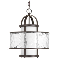 Progress P5310-20 Bay Court 1 Light 15 inch Antique Bronze Pendant Ceiling Light Distressed Clear Glass