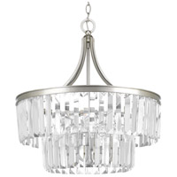 Glimmer 5 Light 22 inch Silver Ridge Pendant Ceiling Light, Clear Glass