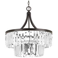 Glimmer 5 Light 22 inch Antique Bronze Pendant Ceiling Light, Clear Glass