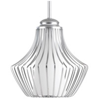 Finn 1 Light 10 inch Metallic Silver Pendant Ceiling Light, Etched White Glass
