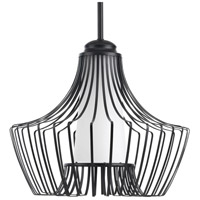 Progress P5325-31 Finn 1 Light 15 inch Black Pendant Ceiling Light Design Series