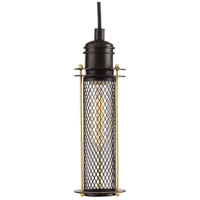 Industrial 1 Light 5 inch Antique Bronze Pendant Ceiling Light