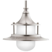 Parlay LED 8 inch Brushed Nickel Pendant Ceiling Light, Etched Glass