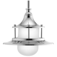 Parlay LED 8 inch Polished Chrome Pendant Ceiling Light, Etched Glass
