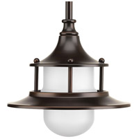 Parlay LED 8 inch Antique Bronze Pendant Ceiling Light, Etched Glass