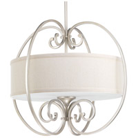 Progress P5335-134 Overbrook 3 Light 22 inch Silver Ridge Pendant Ceiling Light Design Series