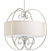 Overbrook 4 Light 28 inch Silver Ridge Pendant Ceiling Light, Natural Linen