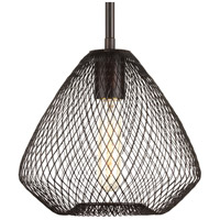 Mesh 1 Light 9 inch Antique Bronze Pendant Ceiling Light
