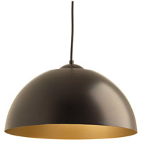Dome LED 16 inch Antique Bronze Pendant Ceiling Light
