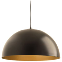 Dome LED 22 inch Antique Bronze Pendant Ceiling Light