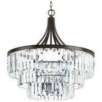Glimmer 6 Light 28 inch Antique Bronze Pendant Ceiling Light, Design Series