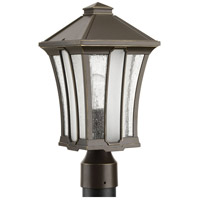 Twain 1 Light 16 inch Antique Bronze Outdoor Post Lantern