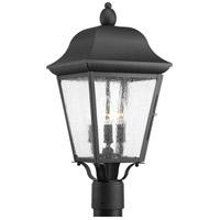Progress P540001-031 Kiawah 3 Light 21 inch Black Outdoor Post Lantern Design Series