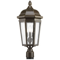 Verdae 3 Light 23 inch Antique Bronze Outdoor Post Lantern