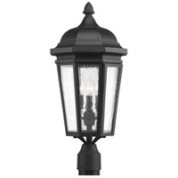 Verdae 3 Light 23 inch Black Outdoor Post Lantern