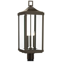 Gibbes Street 3 Light 27 inch Antique Bronze Outdoor Post Lantern