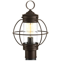 Haddon 1 Light 16 inch Antique Bronze Outdoor Post Lantern