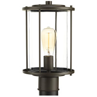 Gunther 1 Light 14 inch Antique Bronze Outdoor Post lantern