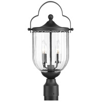 McPherson 3 Light 19 inch Black Outdoor Post lantern
