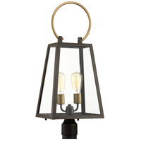 Barnett 2 Light 27 inch Antique Bronze Outdoor Post lantern