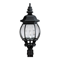 Onion Lantern 4 Light 28 inch Textured Black Outdoor Post Lantern
