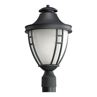 Fairview 1 Light 18 inch Textured Black Outdoor Post Lantern
