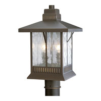 Progress P5410-20 Aberdeen 2 Light 17 inch Antique Bronze Outdoor Post Lantern photo thumbnail
