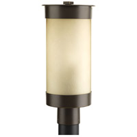 Hawthorne 1 Light 17 inch Antique Bronze Post Lantern, Etched Umber Seeded Glass
