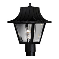 Mansard 1 Light 12 inch Textured Black Outdoor Post Lantern