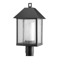 Progress Lighting Domino 1 Light Outdoor Post Lantern in Black P5415-31