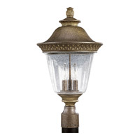 Progress Lighting Savannah 3 Light Outdoor Post Lantern in Burnished Chestnut P5416-86