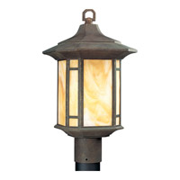 Progress Lighting Arts and Crafts 1 Light Outdoor Post Lantern in Weathered Bronze P5428-46