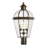 Progress Lighting Danbury 3 Light Outdoor Post Lantern in Antique Bronze P5431-20