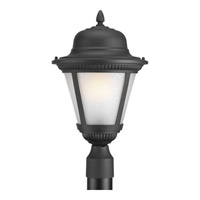 Westport 1 Light 19 inch Black Outdoor Post Lantern in Etched Seeded, Fluorescent