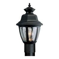 Progress Lighting Non-Metallic 1 Light Outdoor Post Lantern in Black P5437-31