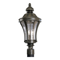 Nottington 3 Light 23 inch Forged Bronze Outdoor Post Lantern