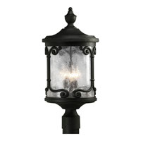 Progress Lighting Augusta 3 Light Outdoor Post Lantern in Forged Black P5440-80