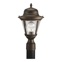 Post Lights & Accessories 1 Light 16 inch Antique Bronze Outdoor Post Lantern in Clear Seeded