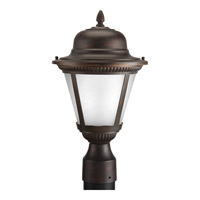 Westport LED 16 inch Antique Bronze Outdoor Post Lantern in Etched Seeded
