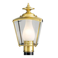 Progress Lighting BrassGUARD 1 Light Outdoor Post Lantern in Polished Brass P5448-10