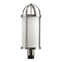 Progress Lighting Greetings 1 Light Outdoor Post Lantern in Brushed Nickel P5449-09