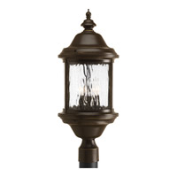 Progress Lighting Ashmore 3 Light Outdoor Post Lantern in Antique Bronze P5450-20