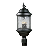 Progress Lighting Ashmore 3 Light Outdoor Post Lantern in Textured Black P5450-31