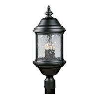 Progress P5450-31 Ashmore 3 Light 24 inch Textured Black Outdoor Post Lantern