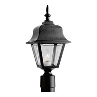 Non-Metallic 1 Light 18 inch Black Outdoor Post Lantern