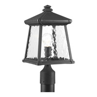 Mac 1 Light 17 inch Black Outdoor Post Lantern