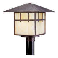 Progress Lighting Mission 1 Light Outdoor Post Lantern in Cobblestone P5461-33