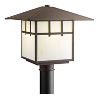 Mission 1 Light 14 inch Weathered Bronze Outdoor Post Lantern
