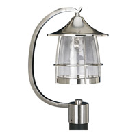 Prairie 1 Light 19 inch Brushed Nickel Outdoor Post Lantern